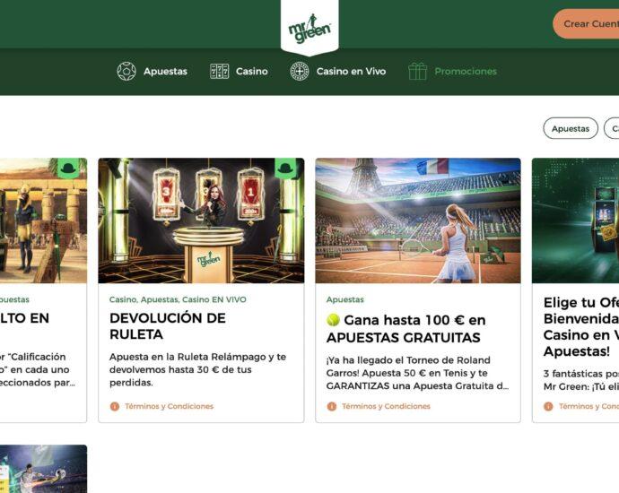 Mr Green Deportes Promociones