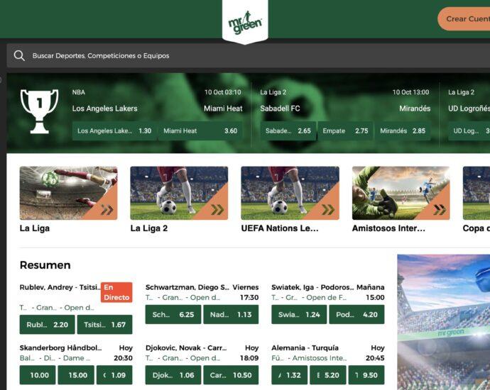 Mr Green Sport Apuestas Online