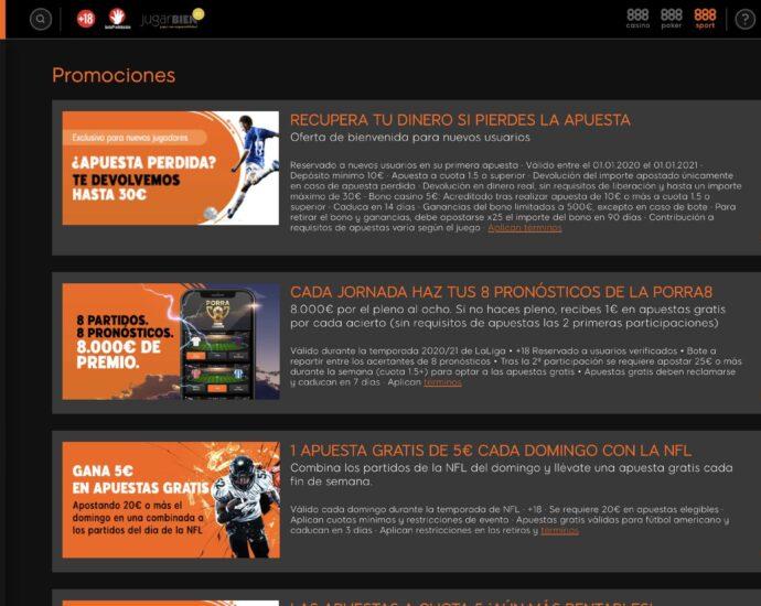 888Sport Promociones Online