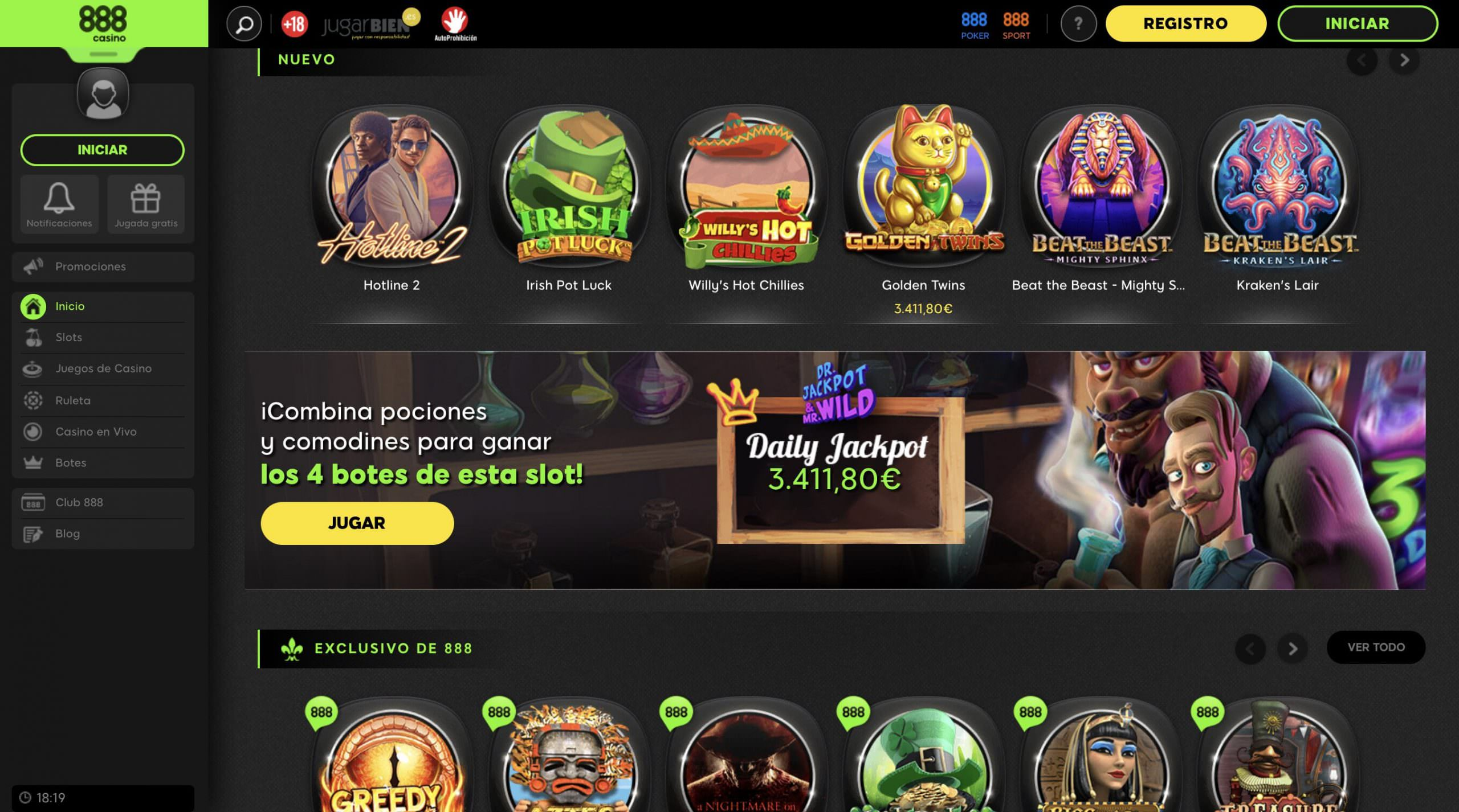 888 Casinos Gratis