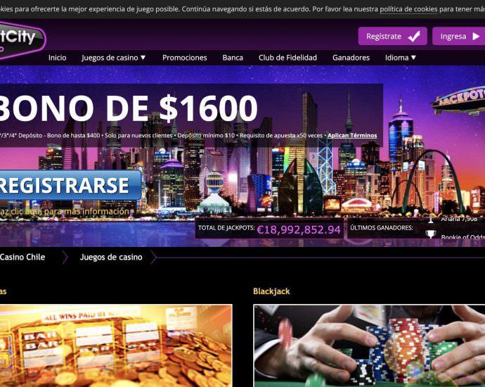 JackpotCity Casino Bono Bienvenida Online Latam