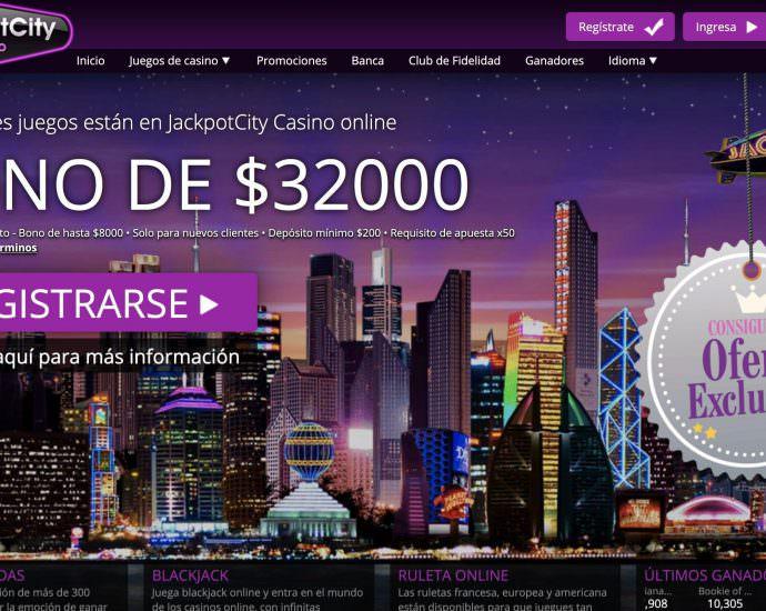 JackpotCity Casino Bono Bienvenida Online Mexico