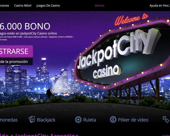 JackpotCity Casino Oferta Bienvenida Argentina