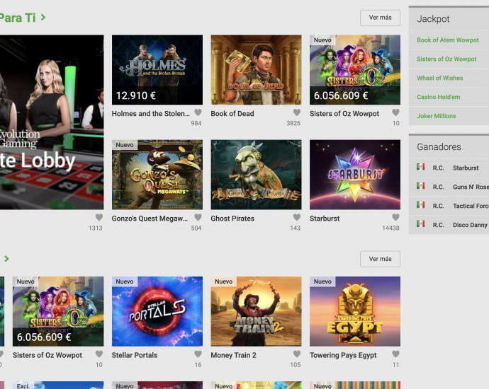 Unibet Casino Juegos Online