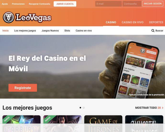 LeoVegas Website
