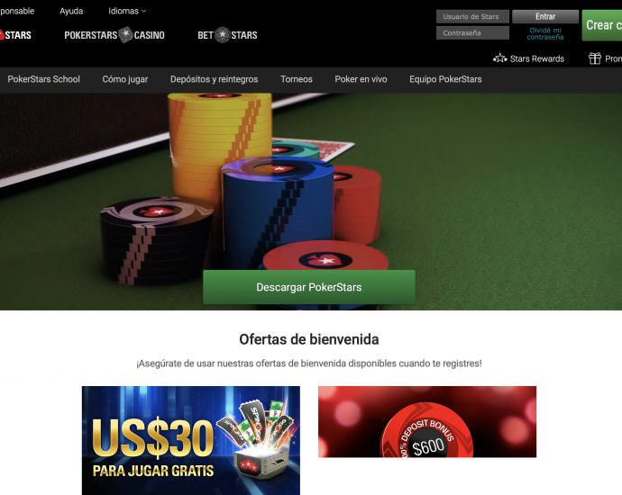PokerStars Homepage Argentina