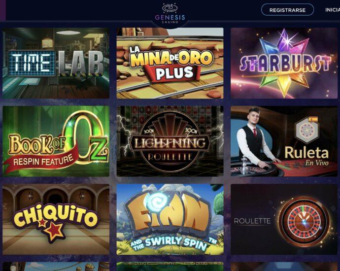 Genesis Casino Juegos