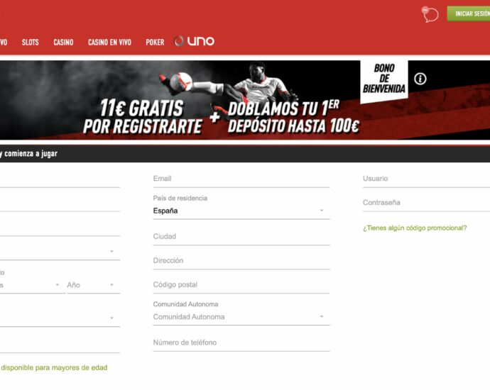 Sportium Registrarse